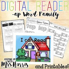 Are you ready to take your phonics readers to the next level?  Go digital!  That's right!  this digital reader is perfect for guided reading, phonics groups and at home practice!  Just download the -ap word family reader and worksheets, use them in your small group, and watch the digial learning begin!