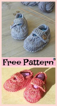 Adorable Knitted Baby Ballerina Booties – Free Patterns – Knitting patterns, knitting designs, knitting for beginners. Baby Knitting Patterns, Baby Booties Knitting Pattern, Crochet Baby Shoes, Crochet Baby Booties, Baby Patterns, Baby Bootees, Free Knitting, Crochet Pattern, Baby Ballerina