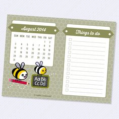{Free Mini Calendar} November 2014 – A Berry Nutty Season — Hello, Cuteness! August 2014 Calendar, September 2014, Academic Calendar, Filofax, Berries, Templates, Seasons, Mini, Planners