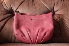 f72bdcdd24de Vintage Smooth Pink Coach Leather Shoulder Bag