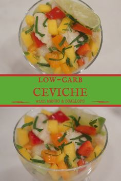 HOW TO make ceviche! Amazing ceviche recipe that's low in calories and carbs and loaded with Tropical flavour for Summer by a registered dietitian!