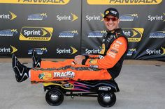 @nascarcasm recaps Kansas in photos: Sunday, May 8, 2016 - With Martin Truex Jr.'s current luck, one of the wheels on this thing he received for winning the pole will fall right off at the worst possible moment. - Photo Credit: By Jerry Markland, Getty Images
