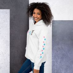 Our relaxed fit hoodie is a sure favorite. It's soft, stylish, and perfect for your casual bottoms. We believe in good quality and comfort for our customized clothing. Our Printers are also environment friendly. Dog Mom Shirt, Winter Hoodies, Dog Wear, White Hoodie, Rib Knit, Style Inspiration, My Love, Stylish, Pug