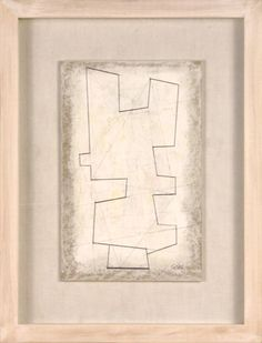 Sculptural Drawing on a Collaged Base by George Dannatt