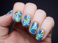 Chalkboard Nails: Spiral Floral - China Glaze Avant Garden Nail Art