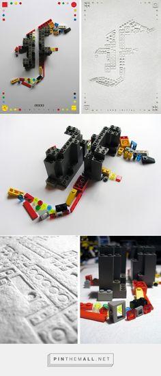 LEGO press + handmade paper posters on Behance by Virag Veszteg