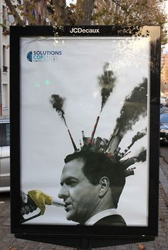 Brandalism - Artwork by Bill Posters, Paris 2015