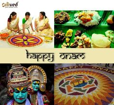 Intricately decorated Pookalam, ambrosial Onasadya, breathtaking Snake Boat Race and exotic Kaikottikali dance are some of the most remarkable features of Onam - the harvest festival in Kerala.  Carnival of Onam lasts for ten days and brings out the best of Kerala culture and tradition.  Happy and prosperous Onam.