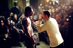"""Eminem plays Jimmy """"B-Rabbit"""" Smith, Jr., a young white rapper from Detroit, in the semi-autobiographical 2002 film 8 Mile"""