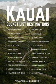 25 Once-In-A-Lifetime Things To Do In Kauai Kauai Hawaii Bucket List. Save this pin for tropical travel inspiration later and click the link for more Hawaii travel tips! The post 25 Once-In-A-Lifetime Things To Do In Kauai appeared first on Outdoor Ideas. Kauai Hawaii, Oahu, Map Of Kauai, Hawaii Surf, Kapaa Kauai, Hawaii Trips, Princeville Kauai, Kauai Vacation, Bucket List Travel