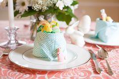 DIY Dinner Napkin Nest for Your Easter Table |  Hen House Linens #napkinfold