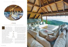Opium Villa, Mustique. Balinese influenced architecture with an eclectic mix of African safari. Cocotraie Issue 9 Special Collection issue.