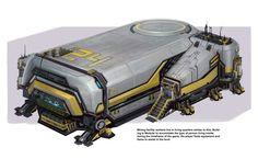 ArtStation - Machine Core - Mining Facility Living Quarters, Kenny Vo