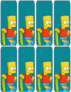 """The Simpsons """"Bart"""" Bookmarks .... free to use and free to share for personal use. <3"""