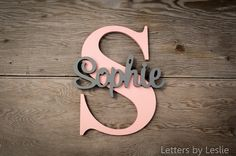 Personalized Nursery Decor Name on Letter Wood name on Large - wall art #ad #babygirl
