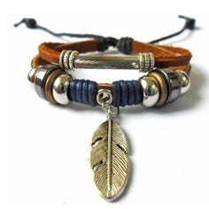bijoux bracelet cuir bracelet hommes bracelet femme bracelet en cuir corde et bracelet métal cuff bracelet ceram SH-0821