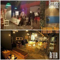 Before & after  A special work, for a special pub TORTUGA