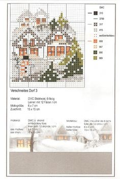 Verschneites Dorf 3