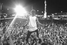 Tyler Joseph of Twenty One Pilots live at Life Is Beautiful Festival 2015 by Adam Elmakias