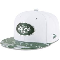 3d58fde0051 Men s New Era White New York Jets 2017 NFL Draft Official On Stage 59FIFTY  Fitted Hat
