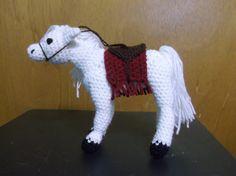 White horse amigurumi crochet horse horse with by SalemsShop