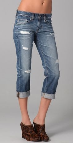 AG Adriano Goldschmied Ex Boyfriend Crop Jeans - have these, from Blackbird... have completely worn them out! not so much with these shoes tho...