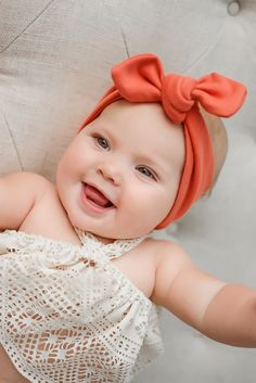 Gorgeous organic cotton coral top knot headband! Super soft and stylish for baby girl!   https://www.etsy.com/listing/232390349/coral-solid-organic-cotton-knit-top-knot