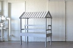 Market Cart: We are absolutely in love with this custom built cart!  With gorgeous gray finished wood, a classic striped awning and removable shelves this piece is so fun and versatile!  Makes a perfect display for wedding or party favors, desserts, appetizers, florals or really anything your heart can imagine!