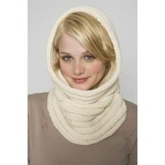 Luxury Cowl / Hood (Knit) - Lion Brand Yarn