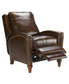 Rutherford Leather Recliner Chair - Chairs & Recliners - Furniture - Macy's