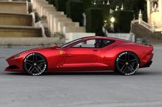 The Ferrari 612 GTO is a stunning concept car by a Russian car designer, currently based in Germany. The concept combines design elements from the current Ferrari model line-up, such as the front headlights – with Aston-Martin-like proportions and styling cues from the past – the whole rear end with its prominent shoulders is reminiscent of the sportscars of the 1960′s such as the 250 GTO.