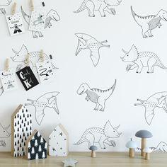 15 Bed Selections for Kids Room Design Boys Bedroom Decor, Baby Bedroom, Nursery Decor, Dinosaur Wall Decals, Nursery Wall Decals, Kids Room Paint, Boys Wallpaper, Kids Room Design, Baby Boy Rooms