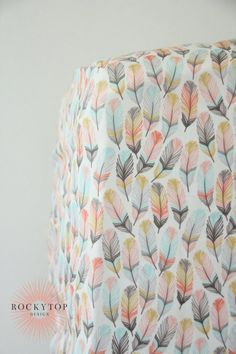 Girl Fitted Crib Sheet Woodland Feathers Changing Pad Cover, Mini Crib Sheet, Pillow Woodland Girl Feather Crib Sheet in Coral, Pink and Aqua - Ready to Ship Woodland Nursery Girl, Baby Girl Nursery Themes, Nursery Decor, Girl Nursery Colors, Nursery Ideas, Amelie, Woodland Fabric, Woodland Theme, Aqua