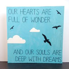 12x12 Our hearts are full of wonder sign by HCMCustomCreations