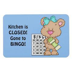 Kitchen is Closed Bingo Magnet