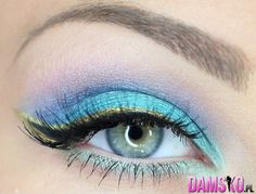 gold liner with black on top