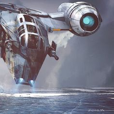 Official concept art from Chapter 1 of by Doug Chiang ( Mandalorian Ships, Boba Fett Mandalorian, Star Wars Poster, Amazon Prime Video, Concept Art, Graphic Art, Fan Art, Stars, Index