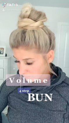 Bun Hairstyles For Long Hair, Pretty Hairstyles, Girl Hairstyles, Quick Work Hairstyles, Running Late Hairstyles, Faux Hawk Hairstyles, Girls Hairdos, Ponytail Hairstyles Tutorial, Wand Hairstyles
