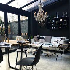 Dining room my garden eames plastic chrome dsr vitra capri black