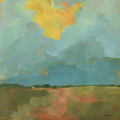 Paul Bailey ART — Breaking storm 8 x 8 inches 2012