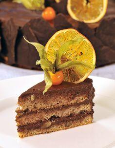 Ořechový dort s čokoládovým krémem KLUCI V AKCI
