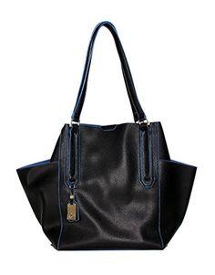 Tutilo Womens Fashion Designer Handbags Feature Bucket Carryall Tote Shoulder Bag Black Blue