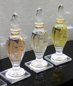 We simply adore these exquisite #Diors' amphora signature perfume bottles... #SalonDeParfums (Sixth Floor)