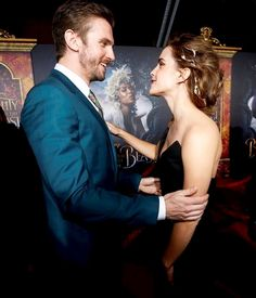 Emma Watson & Dan Stevens at the premiere event for Beauty and the Beast held at the El Capitan Theatre in Hollywood Los Angeles, California on March 2, 2017.