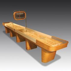 View The Games Room Company's selection of luxury Shuffleboard Tables. Luxury Gifts For Men, Curved Wood, White Gloves, Outdoor Furniture, Outdoor Decor, Game Room, Bench, Bobs, Capri