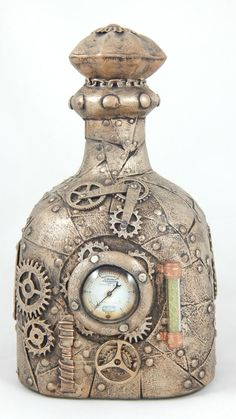 Steampunk Bottle-Bronze