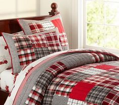 Elliot Quilted Bedding #PotteryBarnKids