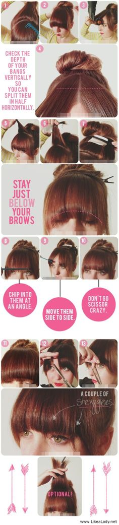 Home bang trim tutorial