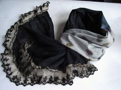 Handmade scarf for women Christmas gift for her black cotton scarf Long scarves Gifts cheap scarves