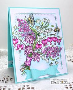 ChristineCreations: Sunny Spring Meadow Bouquet digital stamp set by Power Poppy, card design by Christine Okken